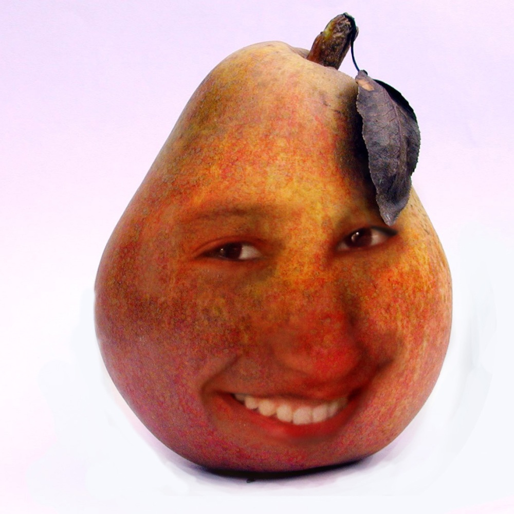 Photoshop blending exercise : Farah in a Pear (1/3)